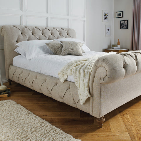 Waffle Upholstered Bed