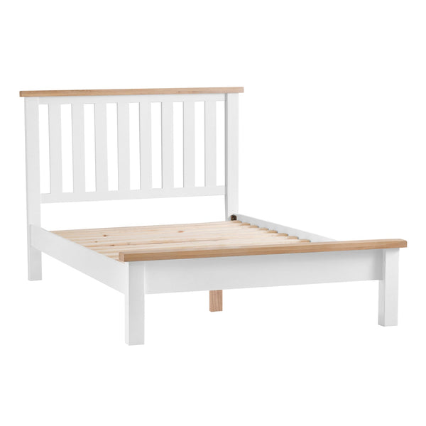 Lavenham White Painted & Oak Bedframe