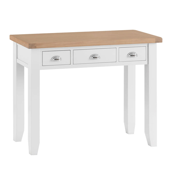 Lavenham White Painted & Oak Dressing Table