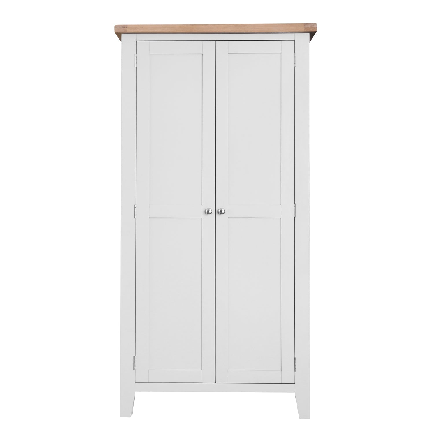 Lavenham White Painted & Oak Wardrobe - Full Hanging