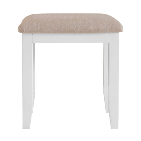 Lavenham White Painted & Oak Dressing Table Stool