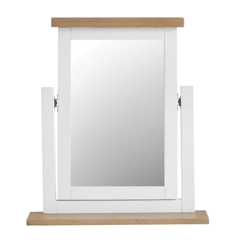 Lavenham White Painted & Oak Dressing Table Mirror