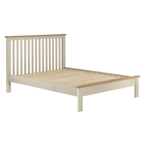 Contemporary Cream Painted & Oak Bed Frame From Todenham Range
