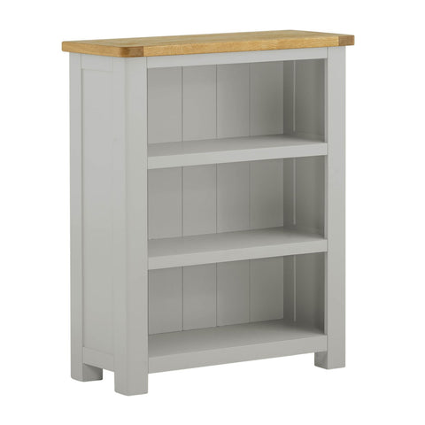 Small Chunky Stone Painted & Oak Bookcase