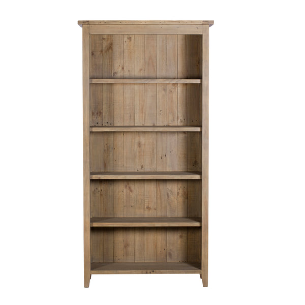 Tall Rustic Wooden Bookcase