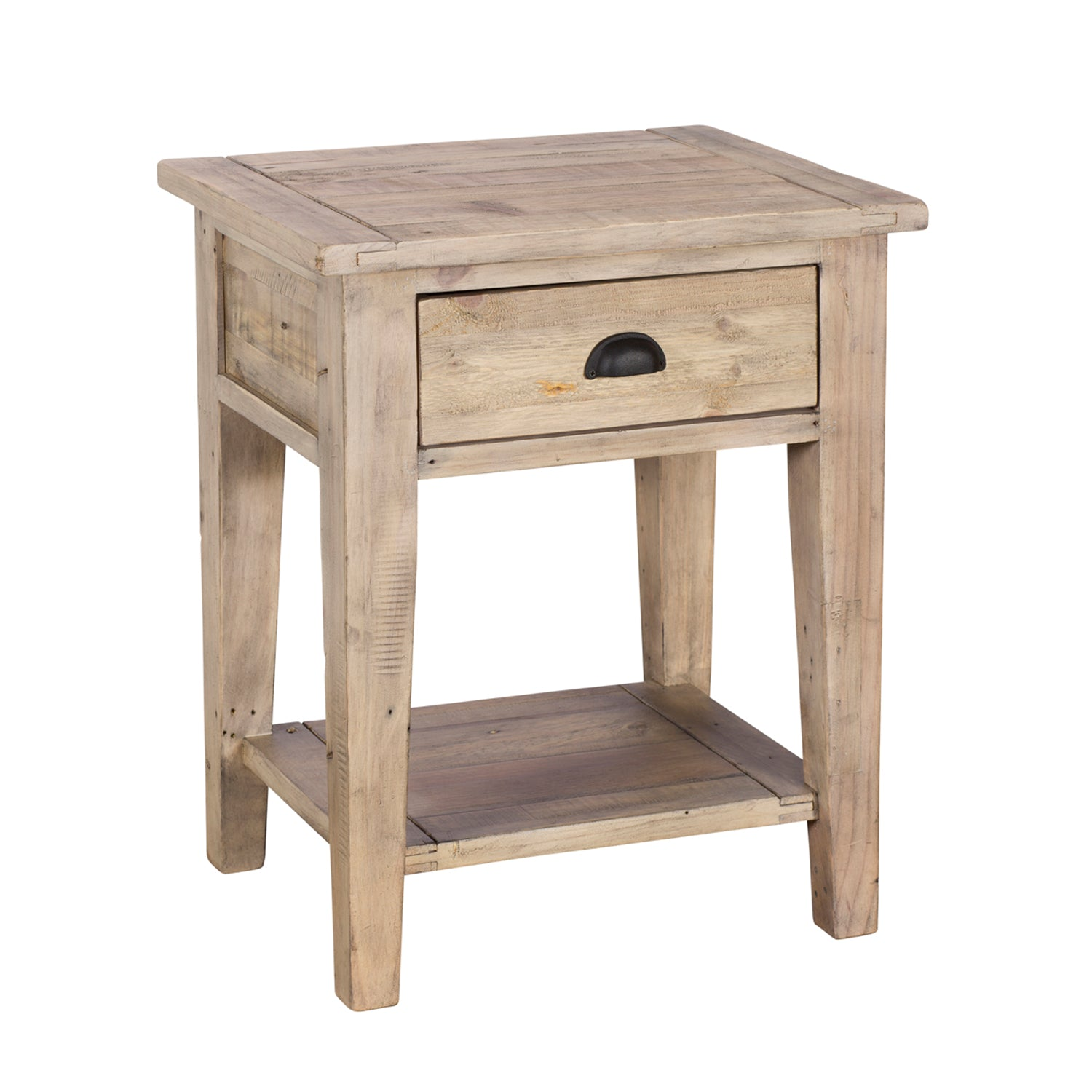 Rustic Reclaimed Timber Lamp Table