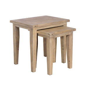 Sands End Reclaimed Timber Nest of 2 Tables