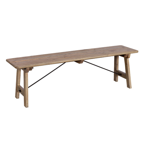 Rustic Wood 150cm Bench