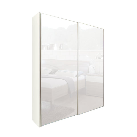 Chicago 150cm Wardrobe with Sliding Mirrored Doors