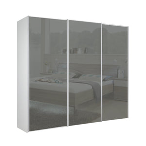 Chicago 250cm Wardrobe with Sliding Dark Grey Glass Doors