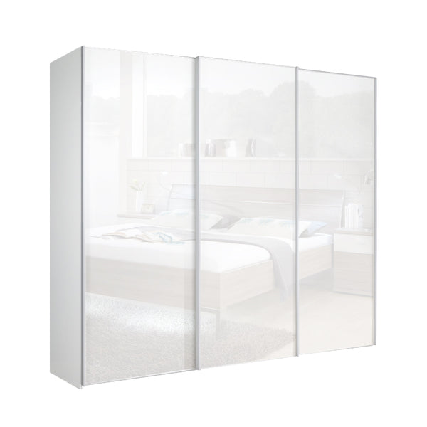 Chicago 225cm Wardrobe with Sliding Mirrored Doors