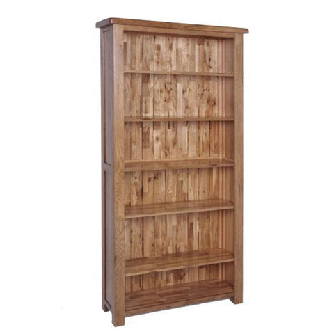 Auvergne Solid Oak Bookcase - Wide (Large) - Better Furniture Norwich & Great Yarmouth