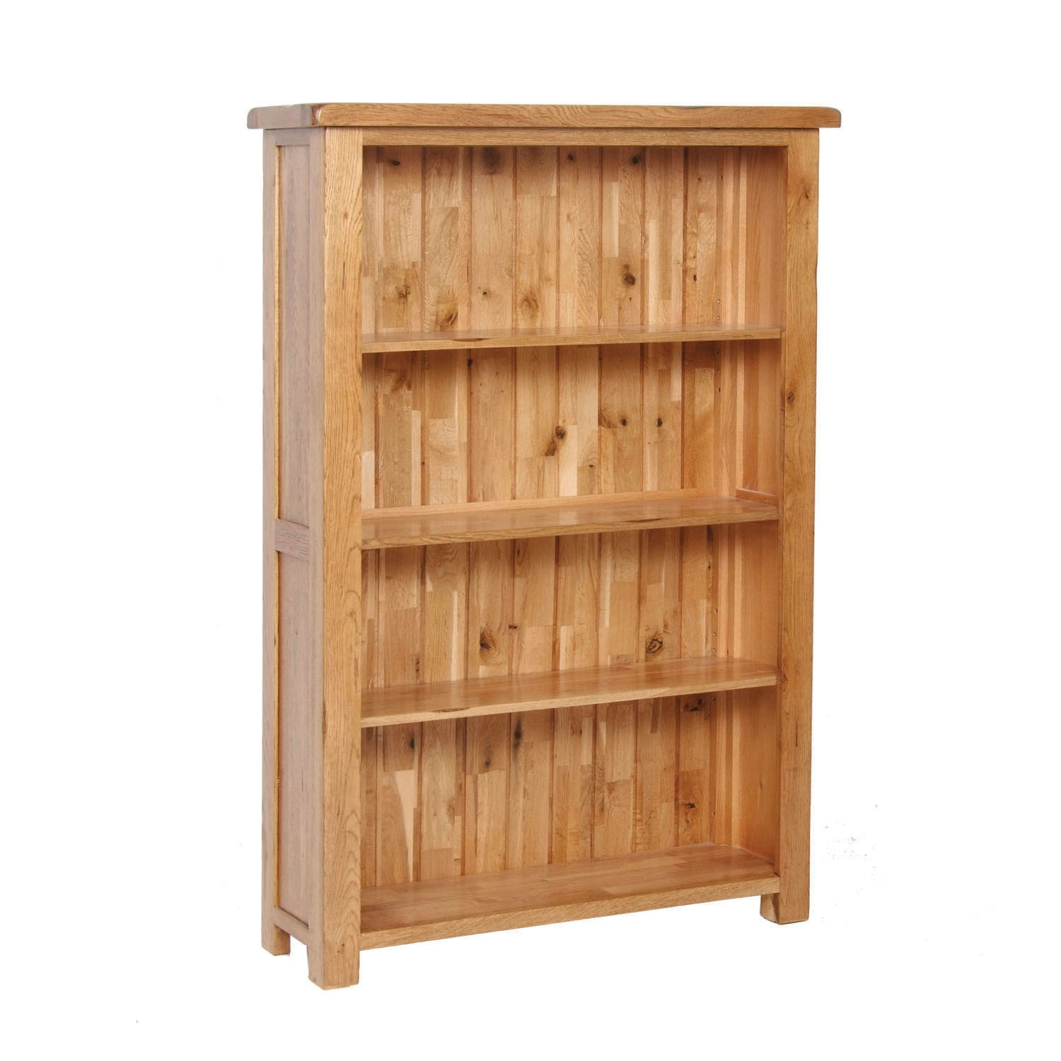 Auvergne Solid Oak Bookcase - Wide (Medium) - Better Furniture Norwich & Great Yarmouth