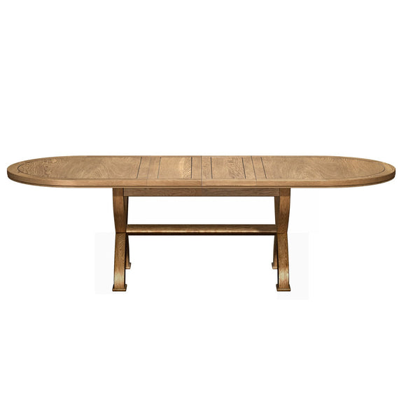 Benedict Oak - 1.8 Cross Leg Oval Extending Table
