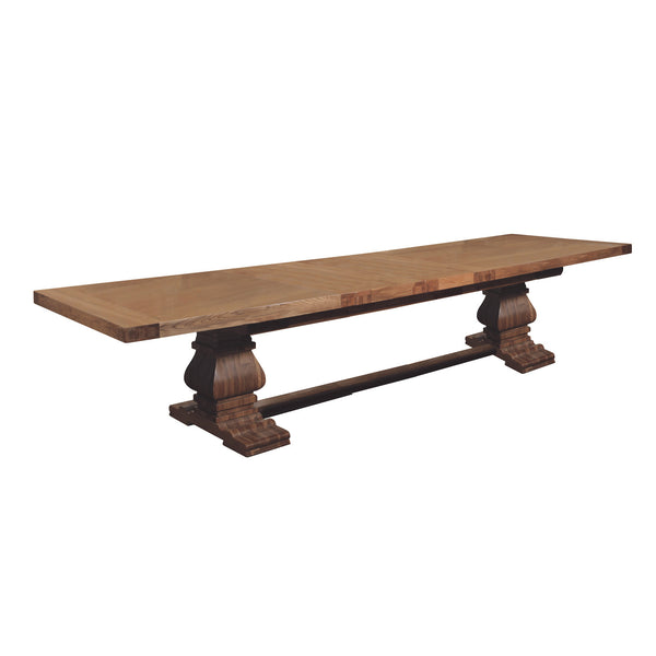 Benedictine Oak - Extending Refectory Dining Table 2.5m to 3.5m