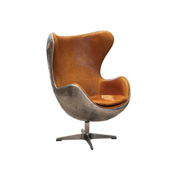 Earhart Wing Desk Chair - Silver