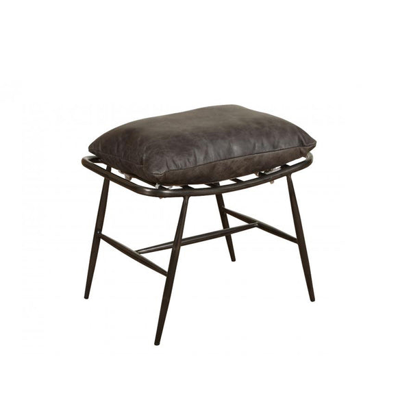 Wyatt Stool - Brown Leather