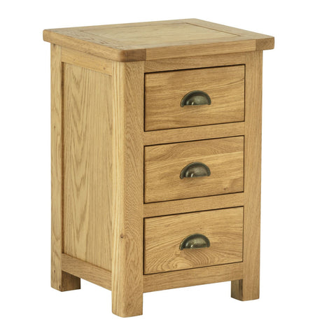 Todenham Oak Bedside Cabinet - 3 Drawer Chest