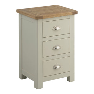 Todenham Oak & Painted Bedside Cabinet - 3 Drawer Chest - Better Furniture Norwich & Great Yarmouth