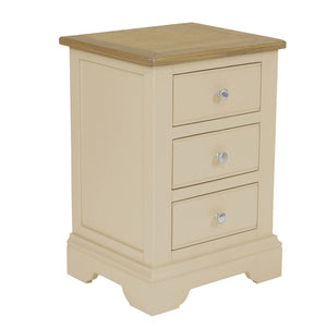 Hardingham Painted & Oak Bedside - 3 Drawer