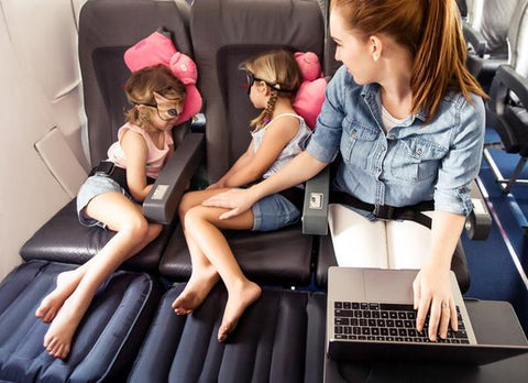 inflatable bed pillow children sleep on flights