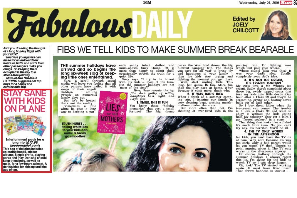 the sun fabulous daily stay sane with kids on plane