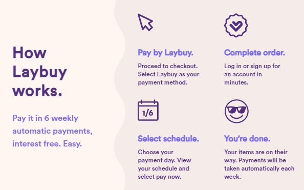 laybuy split the cost of payments