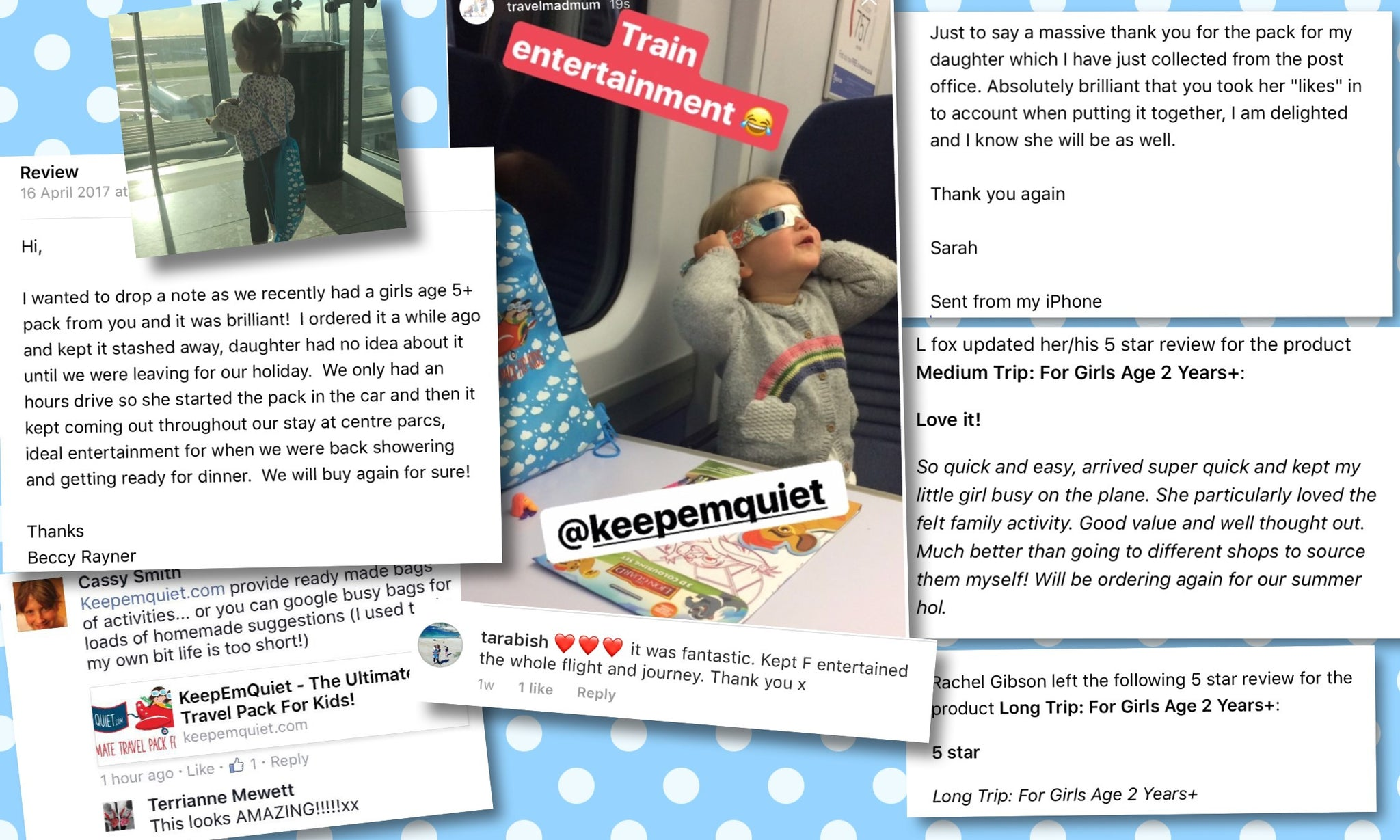 KeepEmQuiet reviews testimonials 5 star shopping traveling with toddler traveling hacks children