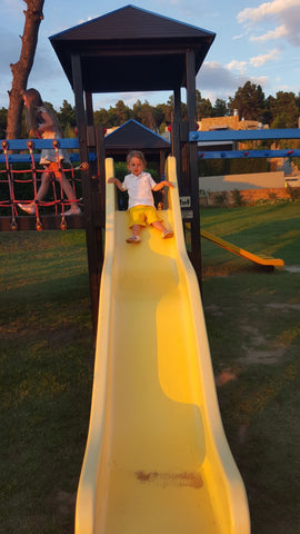 Sani Hotel Playground Miniclub For children sunset