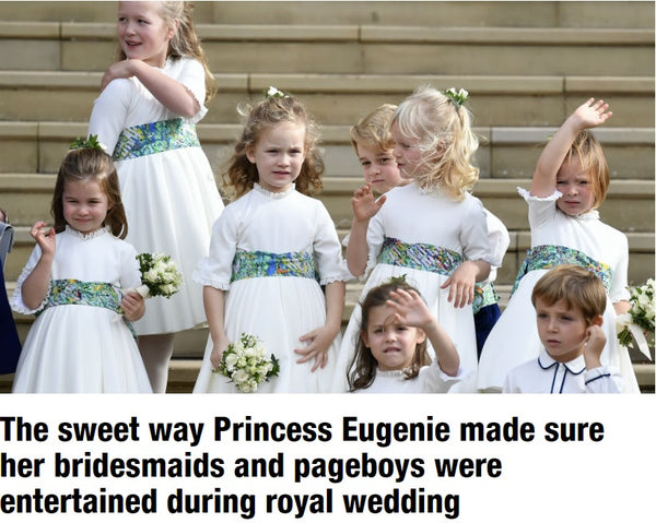 princess charlotte prince george princess eugenie royal wedding