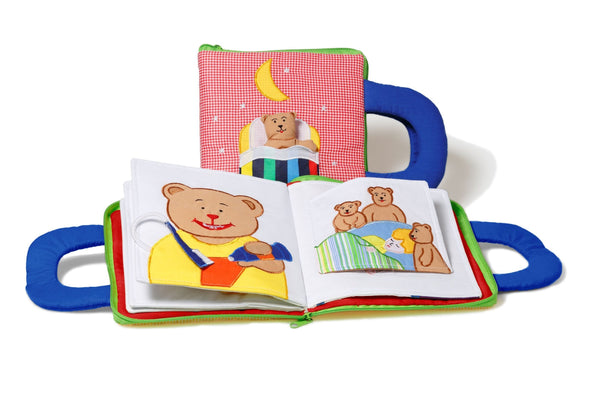 Oskar & Ellen Red Good Night Soft Fabric Book - KeepEmQuiet