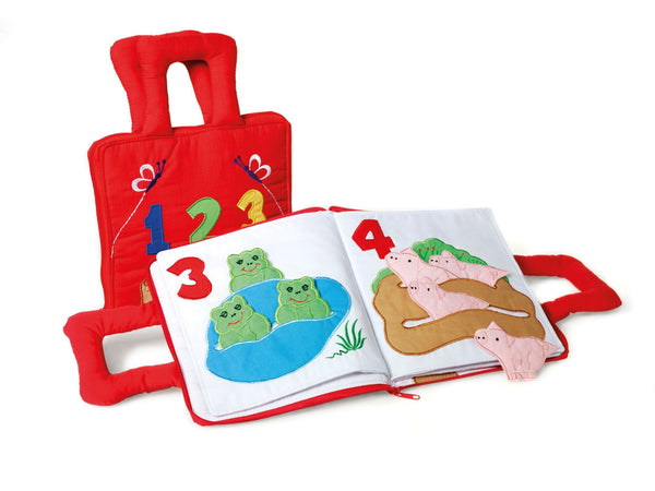 Oskar & Ellen 1-2-3 Counting Soft Fabric Book - KeepEmQuiet
