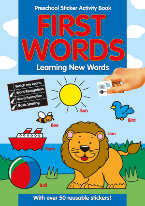 Preschool Sticker Activity Book - First Words