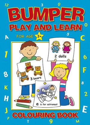 Preschool Bumper Play & Learn Colouring Book