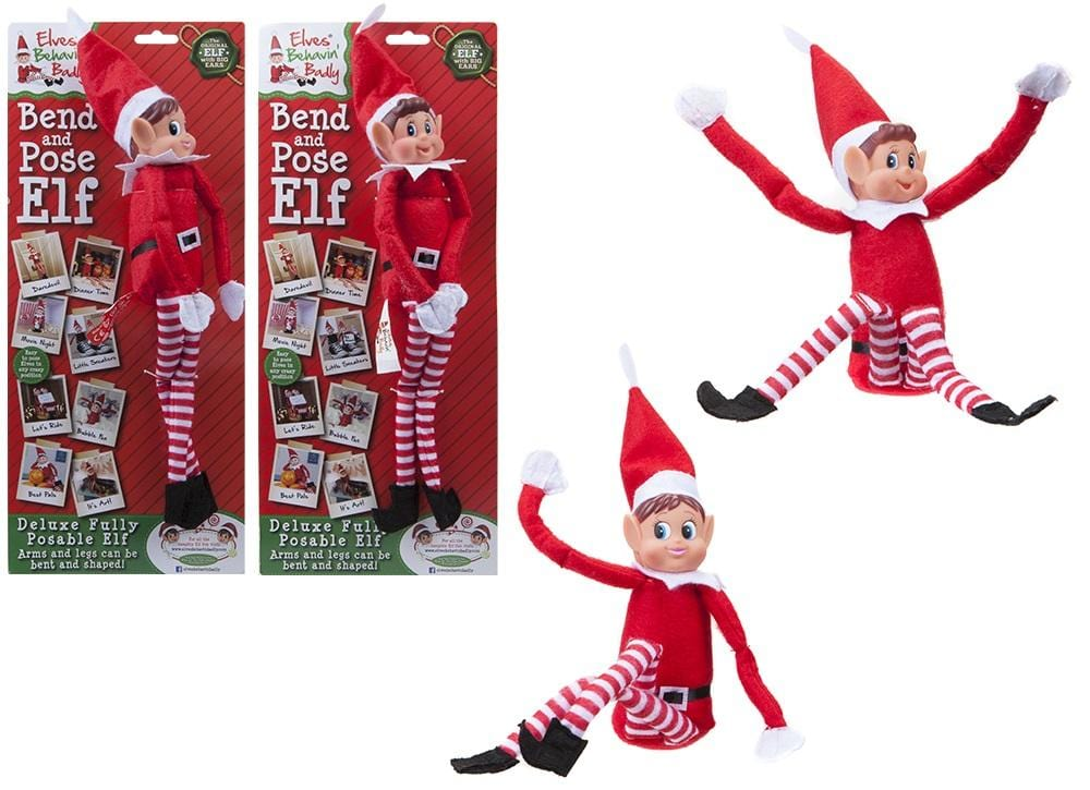 Bendable Poseable Elf Figure (for elf on the shelf!)