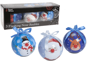 Flashing Nose Character Baubles