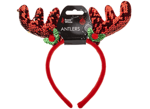 Red Sequin Antlers *ships 28/9