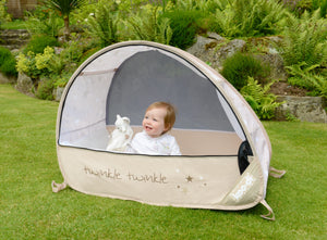 KOO-DI 'Sun & Sleep' Pop-Up Travel Cot 6mths+ (Bubble) - KeepEmQuiet