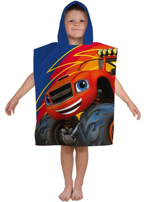 Blaze & The Monster Machines Hooded Poncho Towel - KeepEmQuiet