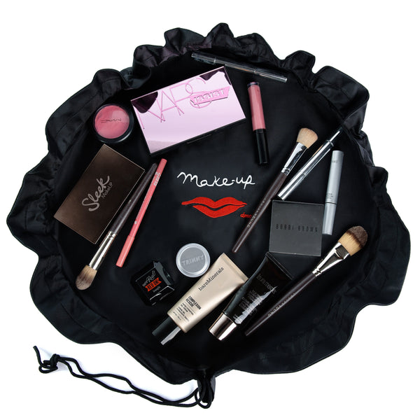 Donna May 2-in-1 Makeup Bag BLACK - KeepEmQuiet