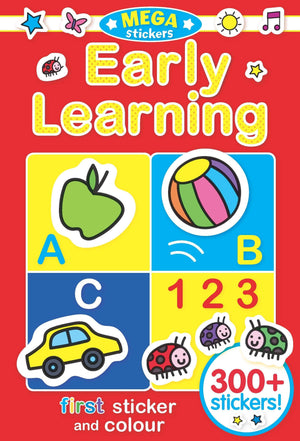 Preshcool Early Learning Mega Sticker & Colour Book