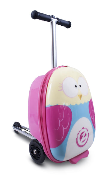Zinc Flyte 'Suitcase Scooter' Olivia The Owl - KeepEmQuiet