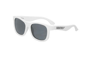 Babiators Original Navigator - Wicked White! - KeepEmQuiet