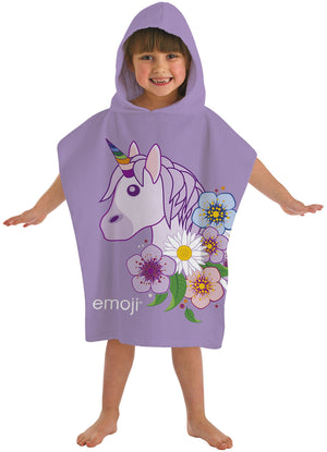 Emoji Unicorn Hooded Poncho Towel - KeepEmQuiet