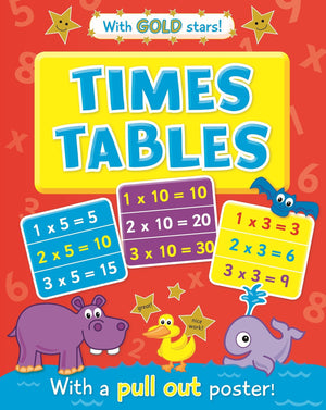 Times Tables Educational Workbook With Pullout Poster & Gold Stars