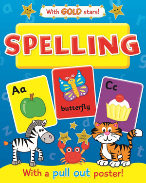 Spelling Educational Workbook With Pullout Poster & Gold Stars