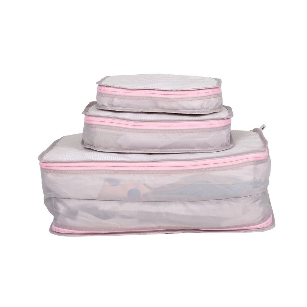 Packing Pals - Packing Cubes (3 pack - pink) - KeepEmQuiet