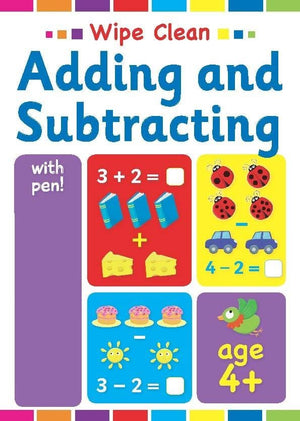 Preshcool Wipe Clean Educational Workbook - Adding & Subtracting 4+