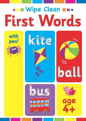 Preshcool Wipe Clean Educational Workbook - First Words 4+