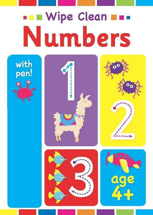 Preshcool Wipe Clean Educational Workbook - Numbers 4+